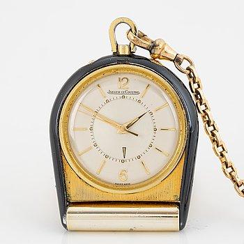 Jaeger-LeCoultre, travel alarm clock, 37 x 43 mm.