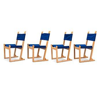 Olof Ottelin, Four 1960's 'Nordika' chairs for Oy Stockmann Ab, Keravan Puusepäntehdas.