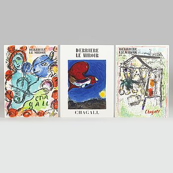 Marc Chagall, Derrière le miroir, No 27-28, 182 and 198, published by Maeght,