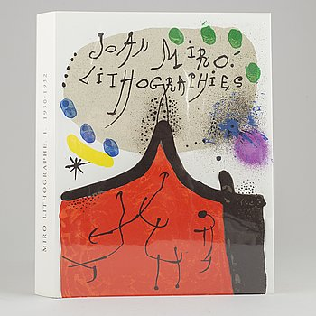 """Joan Miró, book whit 12 lithographs in color,  """"Joan Miró Lithographies"""", Volume I, Maeght, Paris, 1972."""