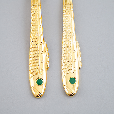 Gunnar cyrén, a 16-piece 'nobel' fish cutlery, gense.
