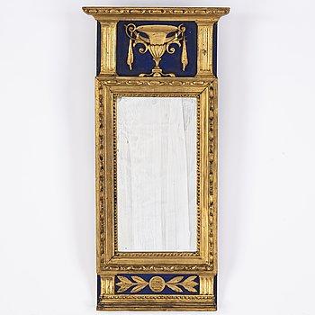 A late gustavian mirror around the year 1800.