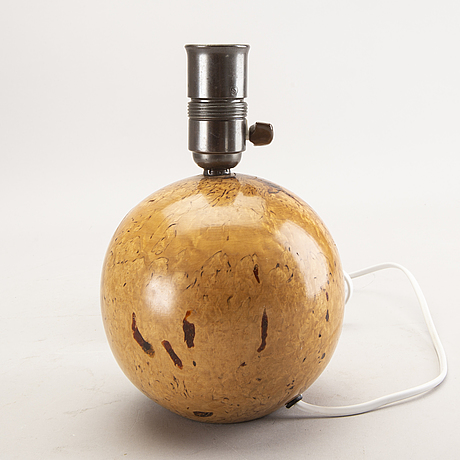 A 1940s birch table lamp.