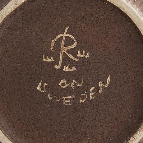 Gunnar nylund, a stoneware vase signed gn rörstrand sweden.