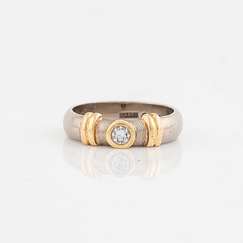 Brilliant cut diamond ring, Lantz.
