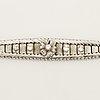 Brilliant cut diamond bracelet.
