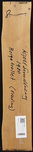 Kjell sundberg, a signed and dated 1980 wooden sculpture.