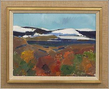 Kjell Leander-Engström, oil on canvas signed.