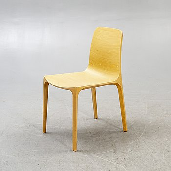 A Pedrali bamboo chair 21st century.