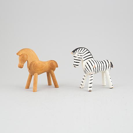 Two wooden figurines by kay bojesen, denmark.