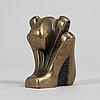 Tom bennett, sculpture. signed. ed. 2/80. dat -89. bronze, height 7.5 cm.