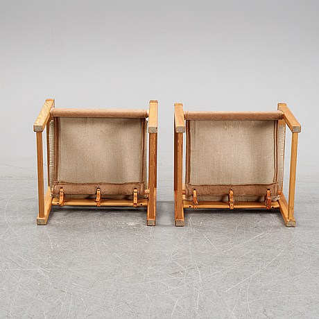 A pair of 'diana' easy chairs by karin mobring, ikea, designed in 1972.