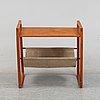 Kai kristiansen, a teak and suede table.  sika møbler, denmark.