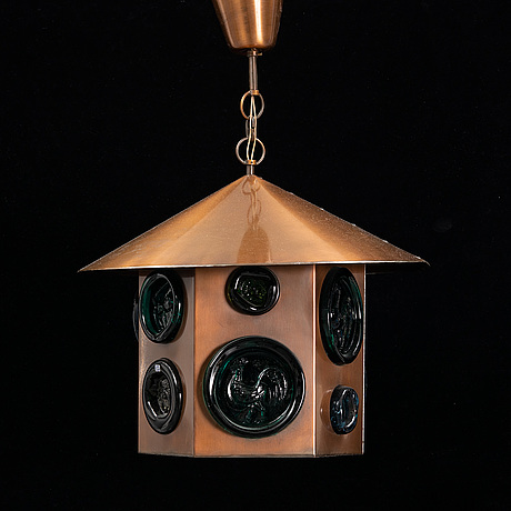 Erik höglund, a ceiling lamp, boda glasbruk, second half of the 20th century.