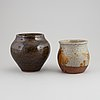 Rolf palm, a set of two stoneware pots, mölle, 1969.