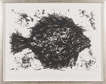 Petri Merta, lithograph, signed and dated 2014, numrerad 14/20.