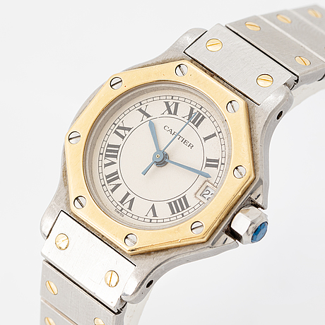 Cartier, santos ronde, wristwatch, 24 mm.
