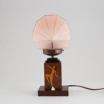 An Art déco table lamp, 1930's.