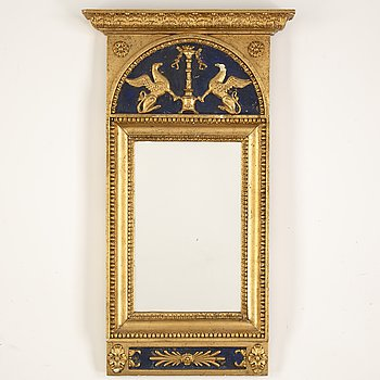 A Swedish Empire mirror, first hald of the 19th Century.