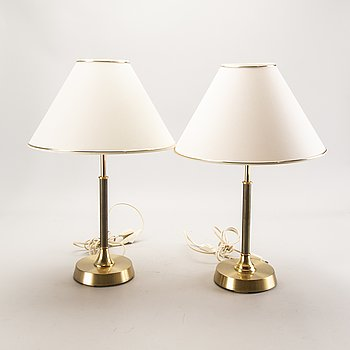Table lamps, a pair, second half of the 20th century.