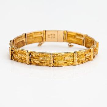 "Björn Weckström, A 14K gold bracelet ""Cascade"". Lapponia 1973."