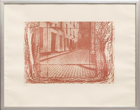 Ola billgren, litografi signerad daterad och numrerad 81 26/100.