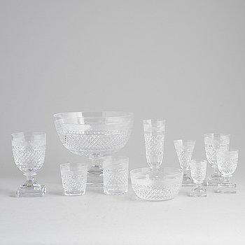 An 83 piece glass ware set, 'Kent' by Elis Bergh for Kosta Boda.