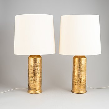 A pair of table lamps, Bitossi, Italy.