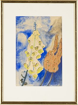 Sven X:et Erixson, watercolour, signed and dated -44.
