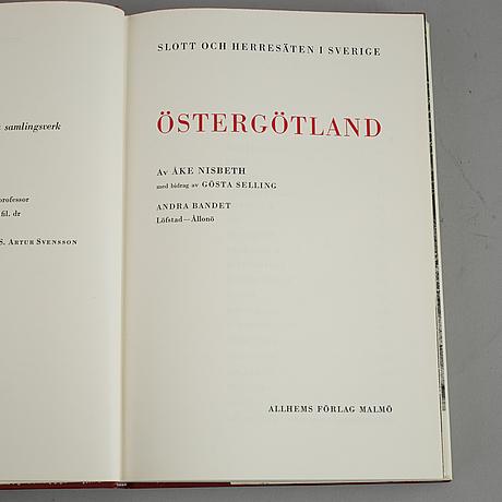 Books, 18 volumes, 'svenska slott och herresäten', allhems förlag, malmö, 1966-71.