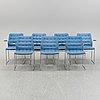 Bruno mathsson, seven 'mio mi 408' chairs, late 20th century.