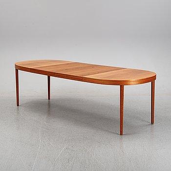 A Scandinavian teak dining table, second half of the 20th century.