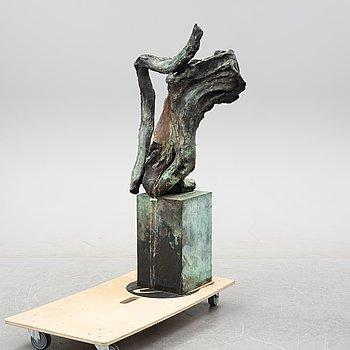 Claes Hake, skulptur, brons, signerad Hake.