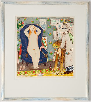 Lennart Jirlow, lithograph in colours, 1978, signerad 290/310.