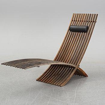 A 'Nozib' teak chair by Nils-Ole Zib for Bergaform, 21st Century.