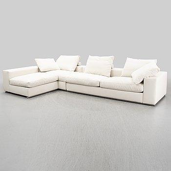 A three-piece sofa by Antonio Citterio for Flexform 21st Century.