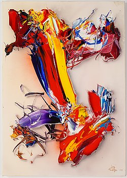 Sven Inge Höglund, acrylic on canvas, signed and dated -89.