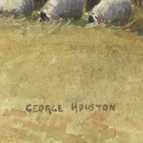 George houston, watercolour, signed.