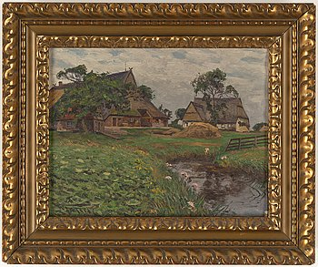 Wilhelm Fritzel, oil on canvas, signed.