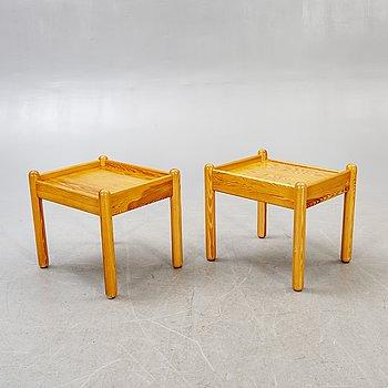 Sängbord, ett par, 1970-tal.