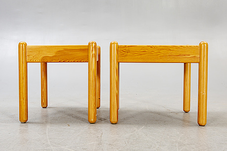 A pair of bedside tables 1970s.