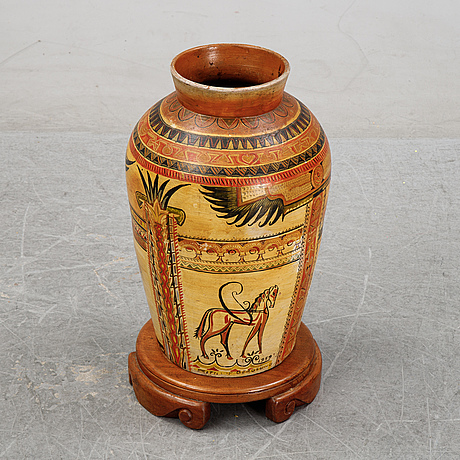 Frithiof berglund, a signed vase, 1939.