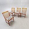Bertil fridhagen, chairs, 4 pcs, bodafors, 1960s.