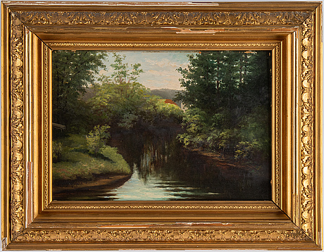 Lotten von gegerfelt, oil on paper-panel, signed.