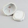 Jens peter dahl-jensen, box with lid, porcelain, royal copenhagen.