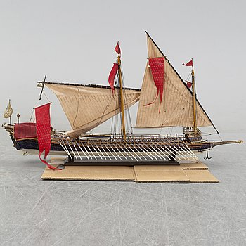 A 20th Century model of a galley ship.