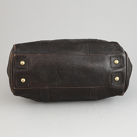 Mulberry, a chocolate brown leather 'bayswater' handbag.