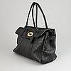 Mulberry, a black leather 'bayswater' handbag.