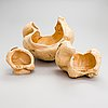 Early 21th century burr wood bowls by  teuvo hyypijev finland.