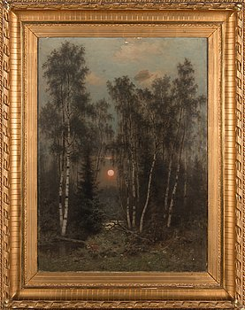 Fredrik Ahlstedt, oil on canvas, signed and dated 1878.